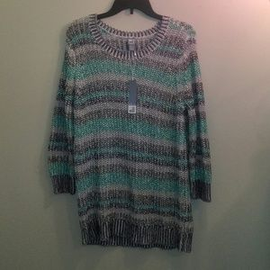 NWT Striped Chunky Knit Sweater